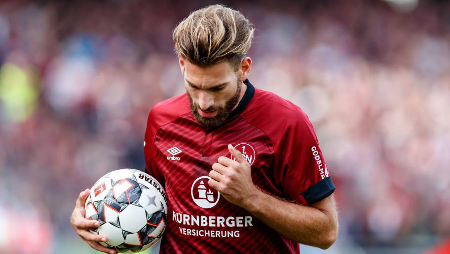 NUREMBERG, GERMANY - SEPTEMBER 22: Enrico Valentini of FC Nuernberg looks on during the Bundesliga match between 1. FC Nuernberg and Hannover 96 at Max-Morlock-Stadion on September 22, 2018 in Nuremberg, Germany. (Photo by TF-Images/Getty Images)