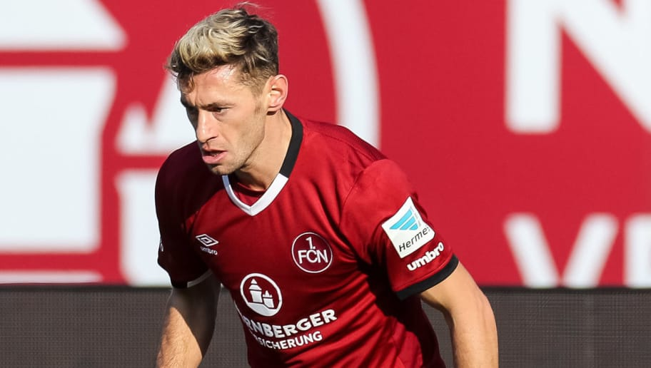 NUREMBERG, GERMANY - JANUARY 29: Laszlo Sepsi of FC Nuernberg in action during the Second Bundesliga match between 1. FC Nuernberg and SG Dynamo Dresden at Arena Nuernberg on January 29, 2017 in Nuremberg. (Photo by TF-Images/Getty Images)