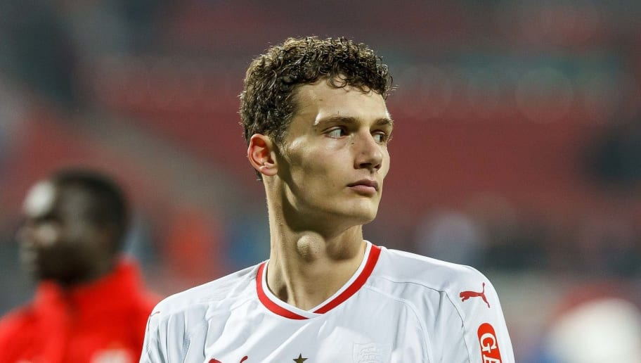 NUREMBERG, GERMANY - NOVEMBER 10: Benjamin Pavard of VfB Stuttgart gestures during the Bundesliga match between 1. FC Nuernberg and VfB Stuttgart at Max-Morlock-Stadion on November 10, 2018 in Nuremberg, Germany. (Photo by TF-Images/Getty Images)