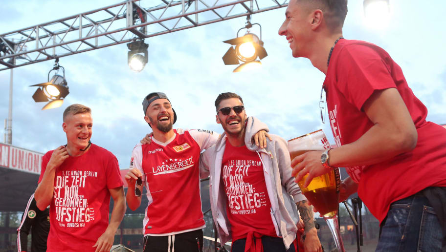 1. FC Union Berlin Celebrate Promotion To The Bundesliga