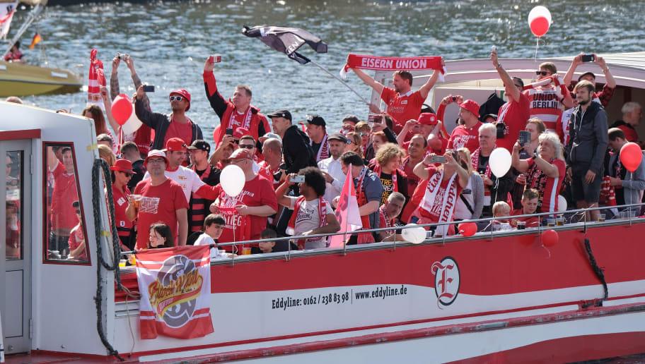 1. FC Union Berlin Celebrate Promotion To The Bundesliga