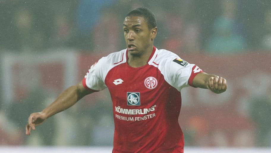 MAINZ, GERMANY - MARCH 09: Abdou Diallo of Mainz controls the ball during the Bundesliga match between 1. FSV Mainz 05 and FC Schalke 04 at Opel Arena on March 9, 2018 in Mainz, Germany. (Photo by TF-Images/TF-Images via Getty Images)