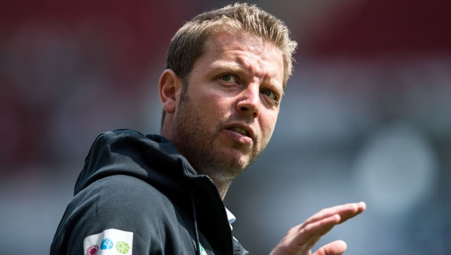 MAINZ, GERMANY - MAY 12: Head Coach Florian Kohfeldt of Bremen arrives prior to the Bundesliga match between 1. FSV Mainz 05 and SV Werder Bremen at Opel Arena on May 12, 2018 in Mainz, Germany. (Photo by Lukas Schulze/Bongarts/Getty Images)