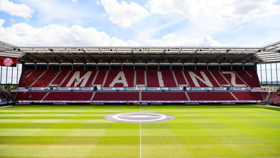 MAINZ, GERMANY - AUGUST 26: A general view prior to the Bundesliga match between 1. FSV Mainz 05 and VfB Stuttgart at Opel Arena on August 26, 2018 in Mainz, Germany. (Photo by Alexander Scheuber/Bongarts/Getty Images)