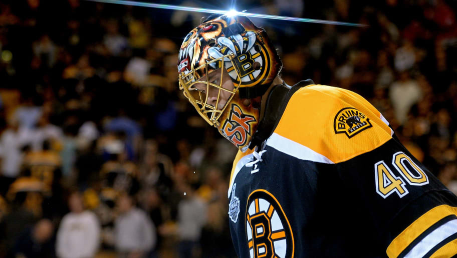 BOSTON, MA - JUNE 17: Tuukka Rask #40 of the Boston Bruins skates off the ice after defeating the Chicago Blackhawks 2-0 in Game Three of the 2013 NHL Stanley Cup Final at TD Garden on June 17, 2013 in Boston, Massachusetts.  (Photo by Harry How/Getty Images)