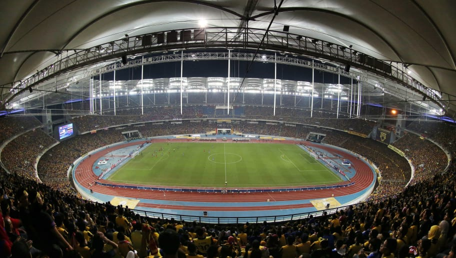 KUALA LUMPUR, MALAYSIA - DECEMBER 20:  General view of the stadium during the 2014 AFF Suzuki Cup 2nd leg final match between Malaysia and Thailand at Bukit Jalil National Stadium on December 20, 2014 in Kuala Lumpur, Malaysia.  (Photo by Stanley Chou/Getty Images)