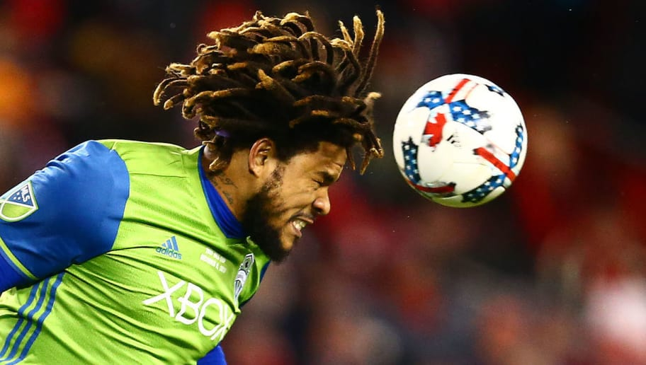 TORONTO, ON - DECEMBER 09:  Roman Torres #29 of the Seattle Sounders clears the ball during the second half of the 2017 MLS Cup Final at BMO Field on December 9, 2017 in Toronto, Ontario, Canada.  (Photo by Vaughn Ridley/Getty Images)