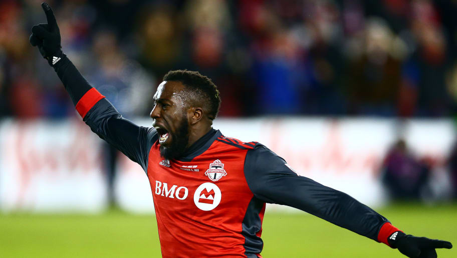 TORONTO, ON - DECEMBER 09:  Jozy Altidore #17 of Toronto FC celebrates a goal during the second half of the 2017 MLS Cup Final against the Seattle Sounders at BMO Field on December 9, 2017 in Toronto, Ontario, Canada.  (Photo by Vaughn Ridley/Getty Images)