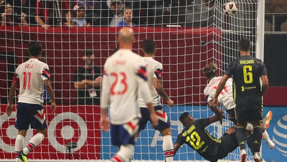 ATLANTA, GA - AUGUST 01: Josef Martinez of MLS All Stars scores a goal to make it 1-1 during the 2018 MLS All-Stars game between Juventus v MLS All-Stars at Mercedes-Benz Stadium on August 1, 2018 in Atlanta, Georgia. (Photo by Robbie Jay Barratt - AMA/Getty Images)