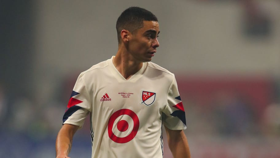 ATLANTA, GA - AUGUST 01: Miguel Almiron of MLS All Stars during the 2018 MLS All-Stars game between Juventus v MLS All-Stars at Mercedes-Benz Stadium on August 1, 2018 in Atlanta, Georgia. (Photo by Robbie Jay Barratt - AMA/Getty Images)