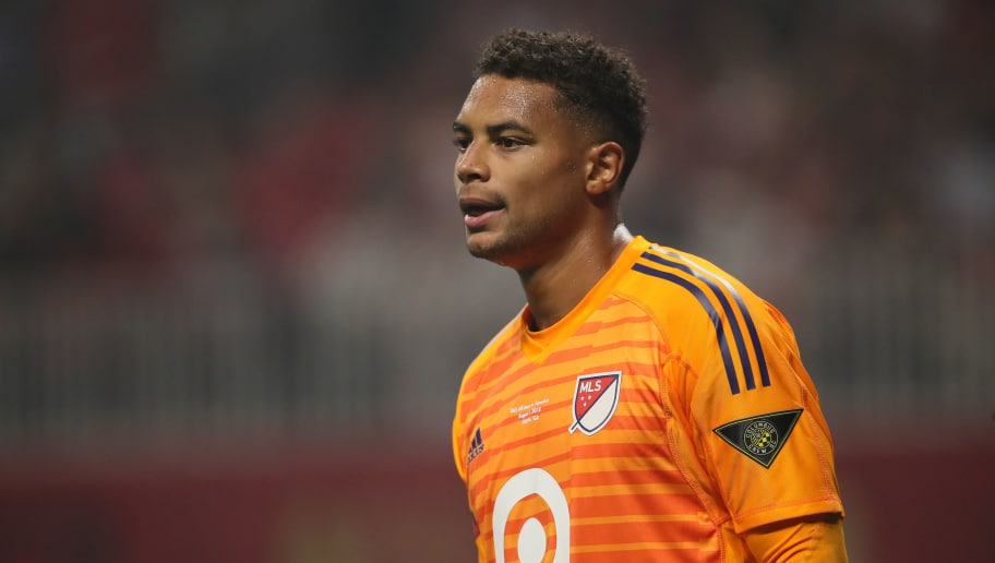 ATLANTA, GA - AUGUST 01: Zack Steffen of MLS Allstars during the 2018 MLS All-Stars game between Juventus v MLS All-Stars at Mercedes-Benz Stadium on August 1, 2018 in Atlanta, Georgia. (Photo by Matthew Ashton - AMA/Getty Images)