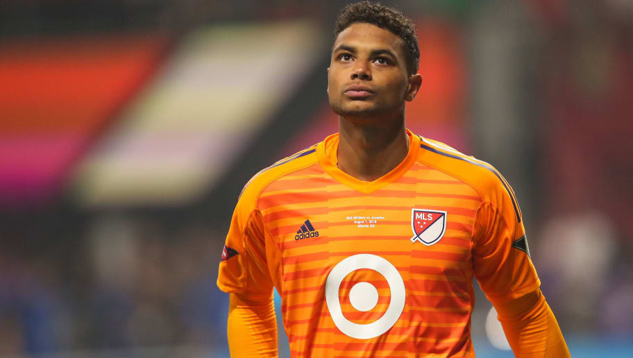 ATLANTA, GA - AUGUST 01: Zack Steffen of MLS All Stars during the 2018 MLS All-Stars game between Juventus v MLS All-Stars at Mercedes-Benz Stadium on August 1, 2018 in Atlanta, Georgia. (Photo by Robbie Jay Barratt - AMA/Getty Images)