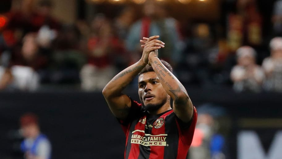 ATLANTA, GA - DECEMBER 08:  Josef Martinez #7 of Atlanta United reacts as he leaves the pitch against the Portland Timbers during the 2018 MLS Cup between Atlanta United and the Portland Timbers at Mercedes-Benz Stadium on December 8, 2018 in Atlanta, Georgia.  (Photo by Kevin C. Cox/Getty Images)