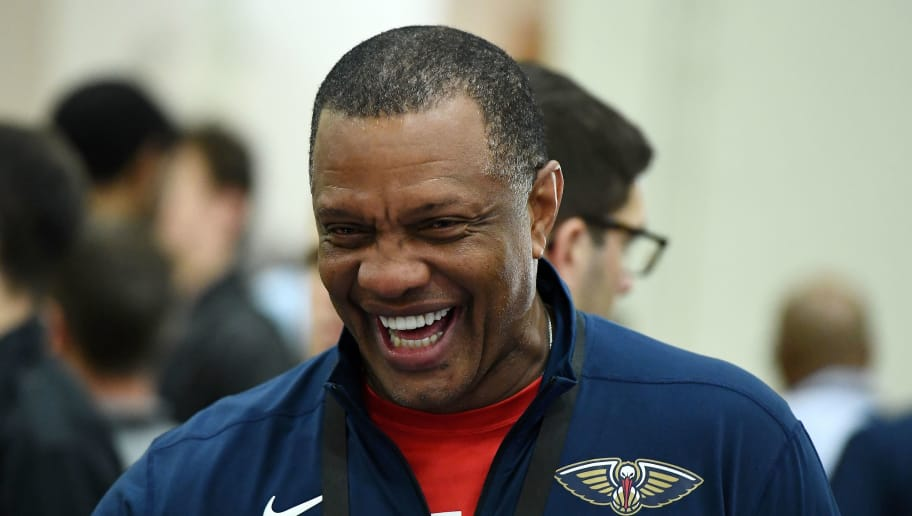 CHICAGO, IL - MAY 17:  Head coach Alvin Gentry of the New Orleans Pelicans attends Day One of the NBA Draft Combine at Quest MultiSport Complex on May 17, 2018 in Chicago, Illinois.  NOTE TO USER: User expressly acknowledges and agrees that, by downloading and or using this photograph, User is consenting to the terms and conditions of the Getty Images License Agreement.  (Photo by Stacy Revere/Getty Images)