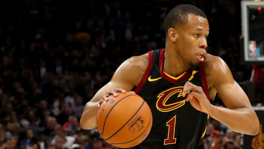 CLEVELAND, OH - JUNE 08:  Rodney Hood #1 of the Cleveland Cavaliers drives to the basket against the Golden State Warriors during Game Four of the 2018 NBA Finals at Quicken Loans Arena on June 8, 2018 in Cleveland, Ohio. NOTE TO USER: User expressly acknowledges and agrees that, by downloading and or using this photograph, User is consenting to the terms and conditions of the Getty Images License Agreement.  (Photo by Gregory Shamus/Getty Images)