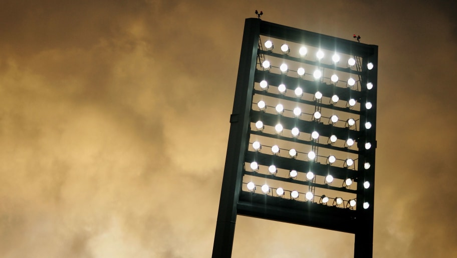 BREMEN, GERMANY - NOVEMBER 03:  A general view of floodlight during the Bundesliga match between Werder Bremen and Hansa Rostock at the Weser Stadium on November 3, 2007 in Bremen, Germany.  (Photo by Friedemann Vogel/Bongarts/Getty Images)