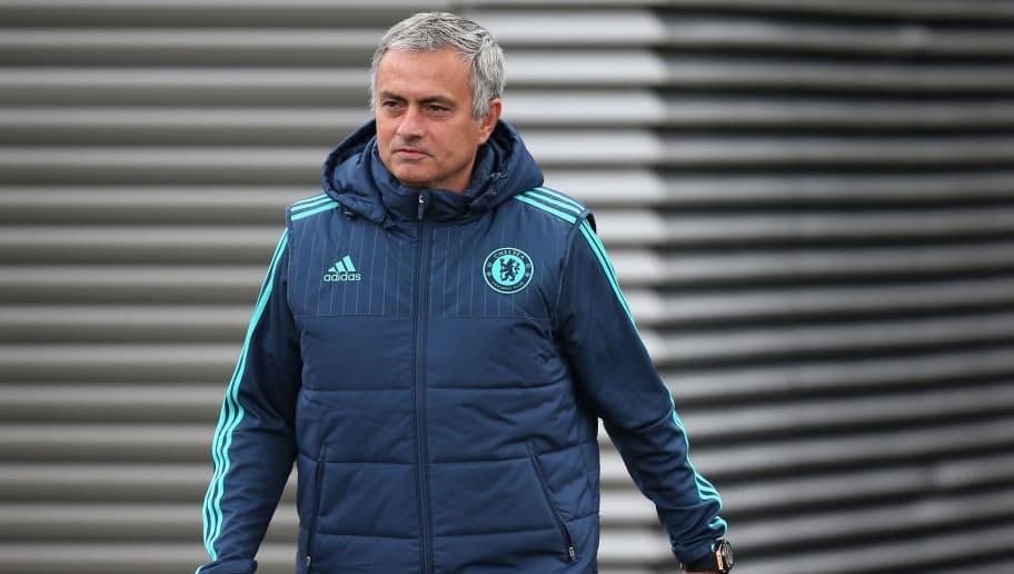 COBHAM, ENGLAND - NOVEMBER 03:  Chelsea manager Jose Mourinho arrives for a Chelsea training session, ahead of the UEFA Champions League Group G match between Chelsea and Dynamo Kiev, at Chelsea Training Ground on November 3, 2015 in Cobham, England.  (Photo by Mike Hewitt/Getty Images)