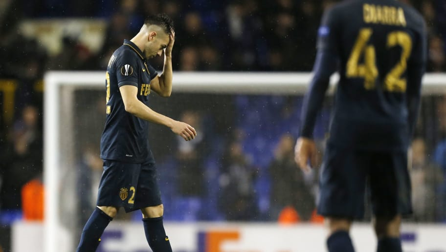 Monaco's Italian forward  Stephan El Shaarawy walks off the pitch after losing the UEFA Europa League group J football match between Tottenham Hotspur and Monaco at White Hart Lane in north London on December 10, 2015.  AFP PHOTO / IAN KINGTON / AFP / IAN KINGTON        (Photo credit should read IAN KINGTON/AFP/Getty Images)