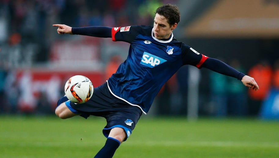 COLOGNE, GERMANY - OCTOBER 31:  Sebastian Rudy of Hoffenheim shoots on goal during the Bundesliga match between 1. FC Koeln and TSG 1899 Hoffenheim held at RheinEnergieStadion on October 31, 2015 in Cologne, Germany.  (Photo by Dean Mouhtaropoulos/Bongarts/Getty Images)