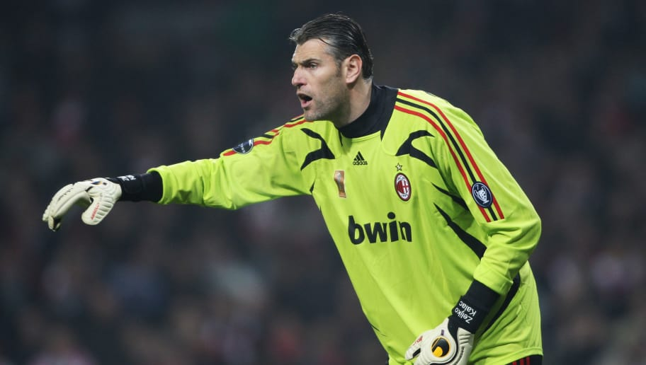 LONDON - FEBRUARY 20: Goalkeeper Zeljko Kalac of AC Milan looks on during the UEFA Champions League first knockout round, first leg match between Arsenal and AC Milan at the Emirates Stadium on February 20, 2008 in London, England.  (Photo by Stu Forster/Getty Images)