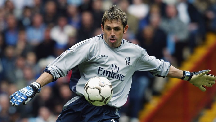 BIRMINGHAM - APRIL 12: Marco Ambrosio of Chelsea in action during the FA Barclaycard Premiership match between Aston Villa and Chelsea at Villa Park on April 12, 2004 in Birmingham, England.  Aston Villa won the match 3-2. (Photo by Stu Forster/Getty Images)