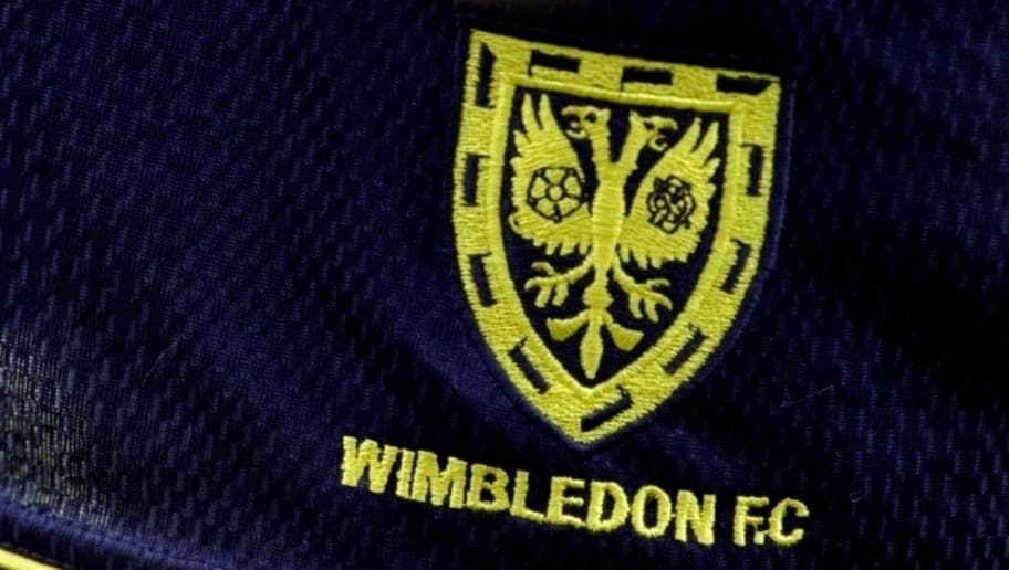 7 Aug 1999:  The famous Wimbledon badge on the shorts of a player during the FA Carling Premiership match against Watford played at Vicarage Road in Watford, London.  The match finished in a 3-2 win for Wimbledon. \ Mandatory Credit: Tony O''Brien /Allsport