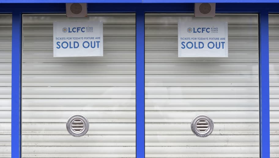LEICESTER, ENGLAND - JANUARY 02: The ticket office is closed prior to the Barclays Premier League match between Leicester City and Bournemouth at The King Power Stadium on January 2, 2016 in Leicester, England.  (Photo by Michael Regan/Getty Images)