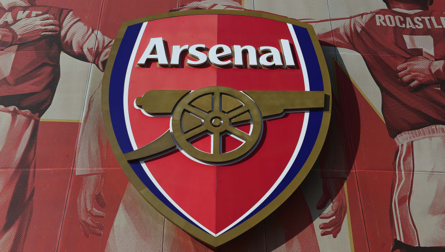 LONDON, ENGLAND - MAY 11:  The Arsenal crest is seen ahead of the Barclays Premier League match between Arsenal and Swansea City at Emirates Stadium on May 11, 2015 in London, England.  (Photo by Jamie McDonald/Getty Images)