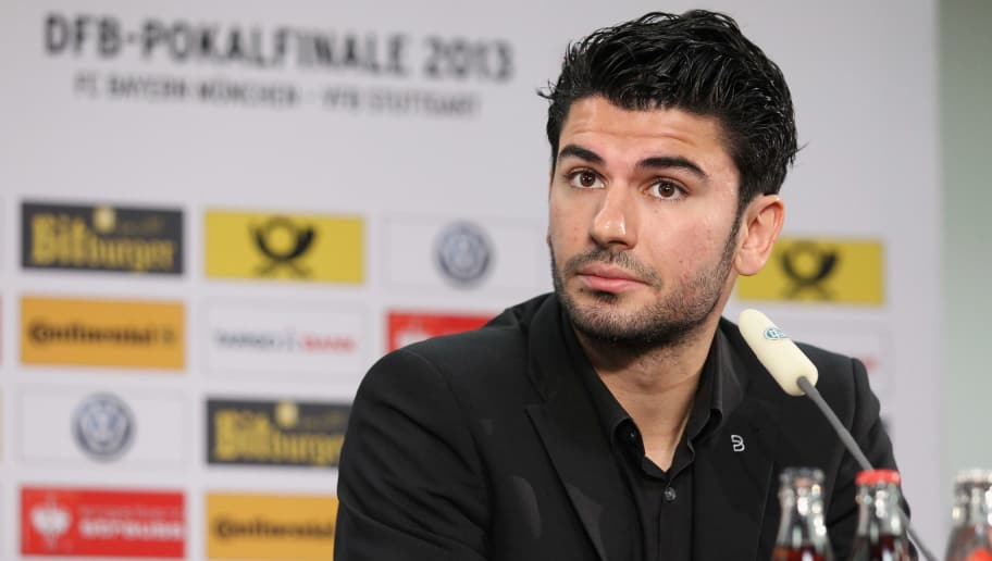BERLIN, GERMANY - MAY 31: Serdar Tasci of VfB Stuttgart attends the press conference of the DFB Cup on May 31, 2013 in Berlin, Germany.  (Photo by Boris Streubel/Bongarts/Getty Images)