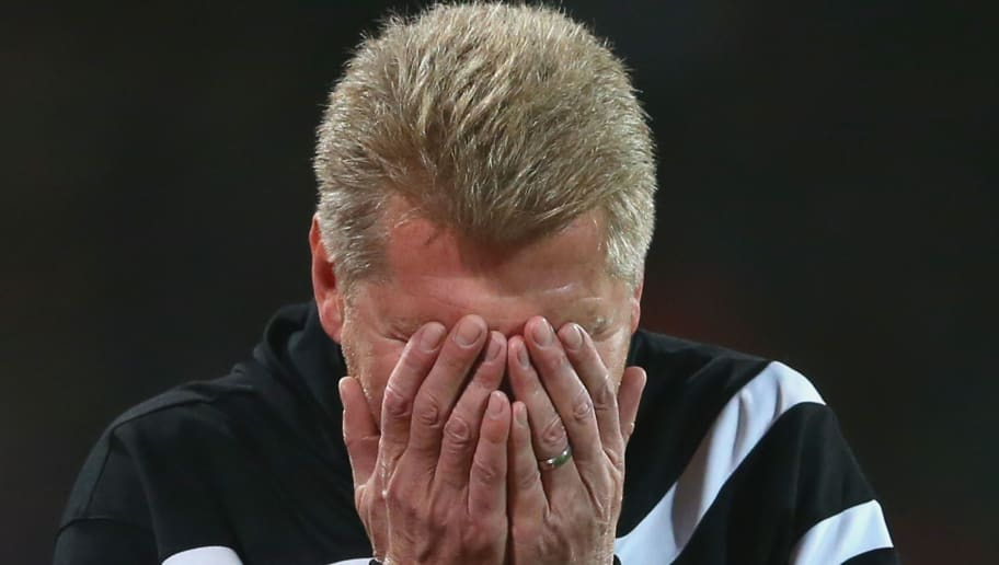 NUREMBERG, GERMANY - DECEMBER 04:  Stefan Effenberg, head coach of Paderborn reacts during the Second Bundesliga match between 1. FC Nuernberg and SC Paderborn 07 at Grundig-Stadion on December 4, 2015 in Nuremberg, Germany.  (Photo by Alexander Hassenstein/Bongarts/Getty Images)