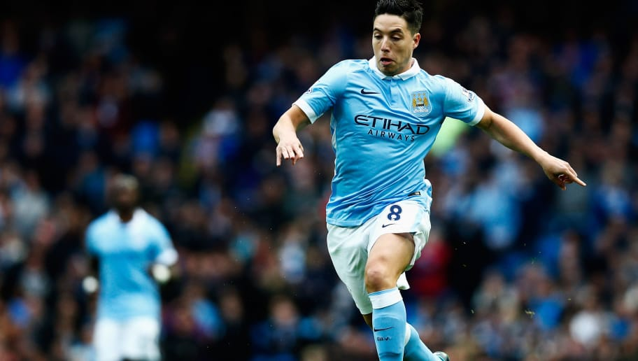MANCHESTER, ENGLAND - OCTOBER 17:  Samir Nasri of Manchester City in action during the Barclays Premier League match between Manchester City and A.F.C. Bournemouth at Etihad Stadium on October 17, 2015 in Manchester, England.  (Photo by Dean Mouhtaropoulos/Getty Images)
