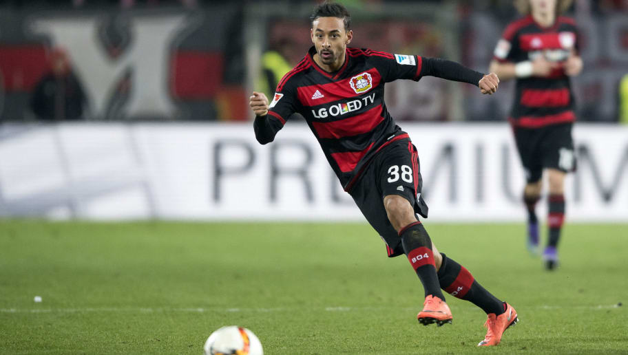 MAINZ, GERMANY - FEBRUARY 28: Karim Bellarabi of Bayer Leverkusen during the first bundesliga match between 1. FSV Mainz 05 and Bayer Leverkusen at Coface Arena on February 28, 2016 in Mainz, Germany.  (Photo by Alexander Scheuber/Bongarts/Getty Images)