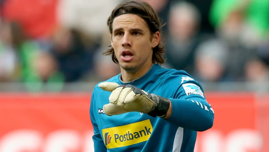 AUGSBURG, GERMANY - FEBRUARY 28:  Yann Sommer, keeper of Moenchengladbach reacts during to the Bundesliga match between FC Augsburg and Borussia Moenchengladbach at WWK Arena on February 28, 2016 in Augsburg, Germany.  (Photo by Alexander Hassenstein/Bongarts/Getty Images)
