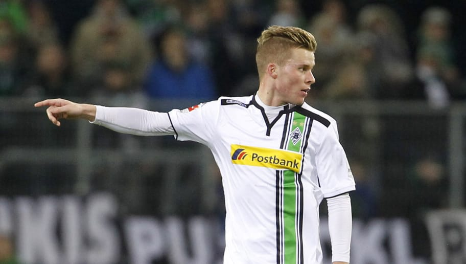 MOENCHENGLADBACH, GERMANY - MARCH 02:  Nico Elvedi of Moenchengladbach runs with the ball during the Bundesliga match between Borussia Moenchengladbach and VfB Stuttgart at Borussia-Park on March 2, 2016 in Moenchengladbach, Germany.  (Photo by Mika Volkmann/Bongarts/Getty Images)