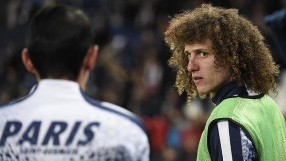 Paris Saint-Germain's Brazilian defender David Luiz looks on prior to the Champions League round of 16 first leg football match between Paris Saint-Germain (PSG) and Chelsea FC on February 16, 2016, at the Parc des Princes stadium in Paris