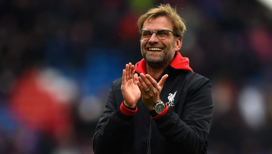 LONDON, ENGLAND - MARCH 06:  Jurgen Klopp manager of Liverpool celebrates victory after the Barclays Premier League match between Crystal Palace and Liverpool at Selhurst Park on March 6, 2016 in London, England.  (Photo by Mike Hewitt/Getty Images)