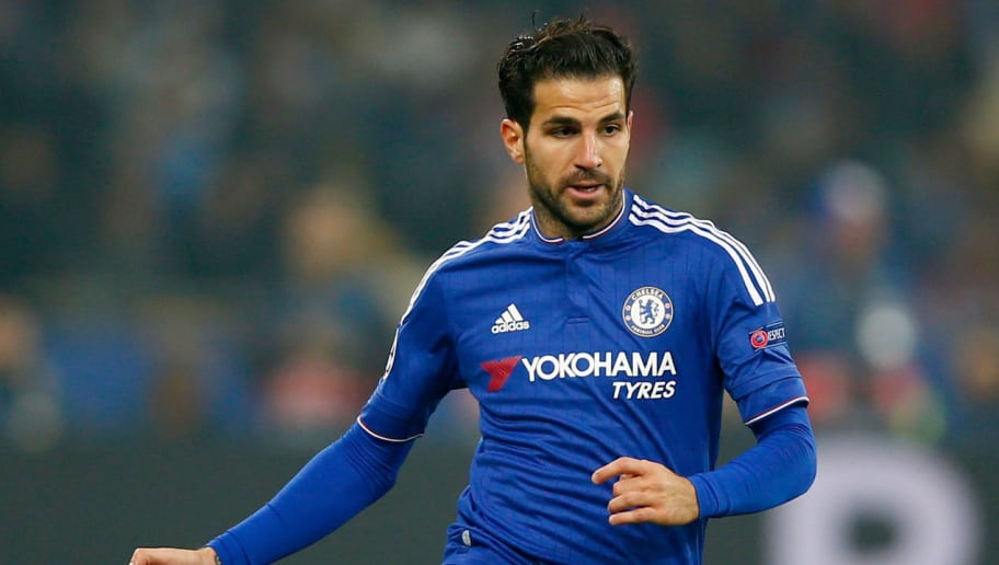 KIEV, UKRAINE - OCTOBER 20:  Cesc Fabregas of Chelsea in action during the UEFA Champions League Group G match between FC Dynamo Kyiv and Chelsea at the Olympic Stadium on October 20, 2015 in Kiev, Ukraine.  (Photo by Clive Rose/Getty Images)