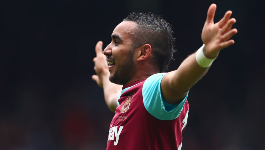 LONDON, ENGLAND - APRIL 02:  Dimitri Payet of West Ham United celebrates scoring his team's second goal during the Barclays Premier League match between West Ham United and Crystal Palace at the Boleyn Ground on April 2, 2016 in London, England.  (Photo by Clive Rose/Getty Images)