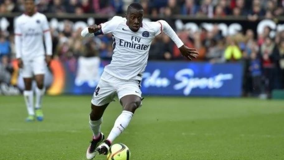 Paris Saint-Germain's French midfielder Blaise Matuidi runs with the ball during the French L1 football match Guingamp vs Paris SG at the Roudourou stadium in Guingamp, western France, on April 9, 2016