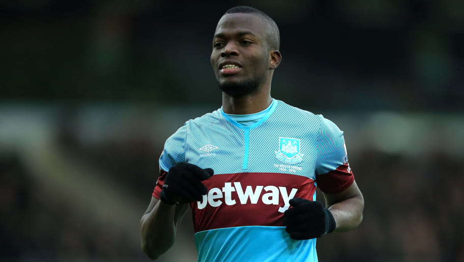 NORWICH, ENGLAND - FEBRUARY 13:  Enner Valencia of West Ham United during the Barclays Premier League match between Norwich City and West Ham United at Carrow Road on February 13, 2016 in Norwich, England. (Photo by Stephen Pond/Getty Images)