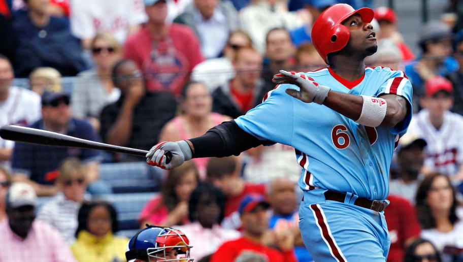 9ecc70c96f8  Many teams feature a powder blue throwback set but the Phillies  looks the  best of them all. The red racing stripe down the sides complement the blue  well.