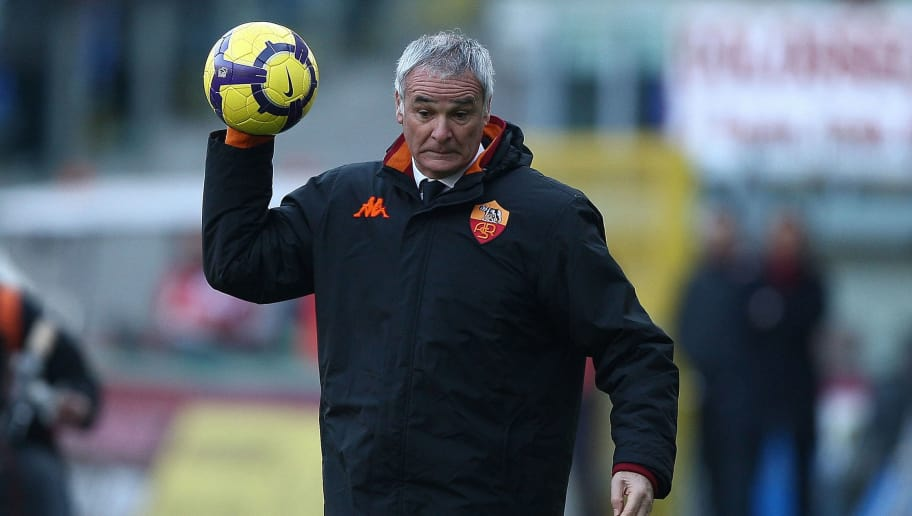ROME - DECEMBER 20:  As Roma's coach Claudio Ranieri holds a ball during the Serie A match between AS Roma and Parma FC at Stadio Olimpico on December 20, 2009 in Rome, Italy.  (Photo by Paolo Bruno/Getty Images)