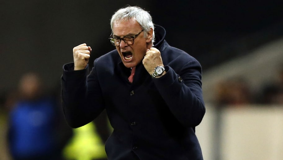 Monaco's Italian coach Claudio Ranieri reacts during the French Cup football match Nice vs Monaco at the 'Allianz Riviera' stadium in Nice on February 12, 2014.   AFP PHOTO / VALERY HACHE        (Photo credit should read VALERY HACHE/AFP/Getty Images)