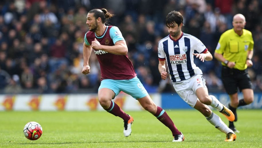 WEST BROMWICH, ENGLAND - APRIL 30:  Andy Carroll of West Ham United in action during the Barclays Premier League match between West Bromwich Albion and West Ham United at The Hawthorns on April 30, 2016 in West Bromwich, England.  (Photo by Shaun Botterill/Getty Images)