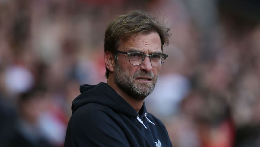 LIVERPOOL, ENGLAND - MAY 08:  Jurgen Klopp, Manager of Liverpool looks on during the Barclays Premier League match between Liverpool and Watford at Anfield on May 8, 2016 in Liverpool, England.  (Photo by Jan Kruger/Getty Images)
