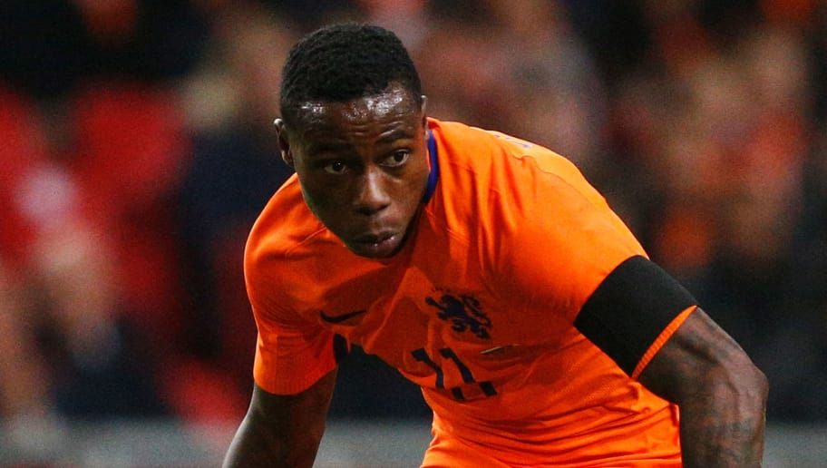 AMSTERDAM, NETHERLANDS - MARCH 25:  Quincy Promes of the Netherlands in action during the International Friendly match between Netherlands and France at Amsterdam Arena on March 25, 2016 in Amsterdam, Netherlands.  (Photo by Dean Mouhtaropoulos/Getty Images)