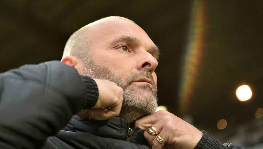 Toulouse's French head coach Pascal Dupraz looks on during the French L1 football match between Angers (SCO) and Toulouse (TFC) on May 14, 2016 at the Jean Bouin Stadium in Angers, northwestern France.  AFP PHOTO / JEAN-FRANCOIS MONIER / AFP / JEAN-FRANCOIS MONIER        (Photo credit should read JEAN-FRANCOIS MONIER/AFP/Getty Images)
