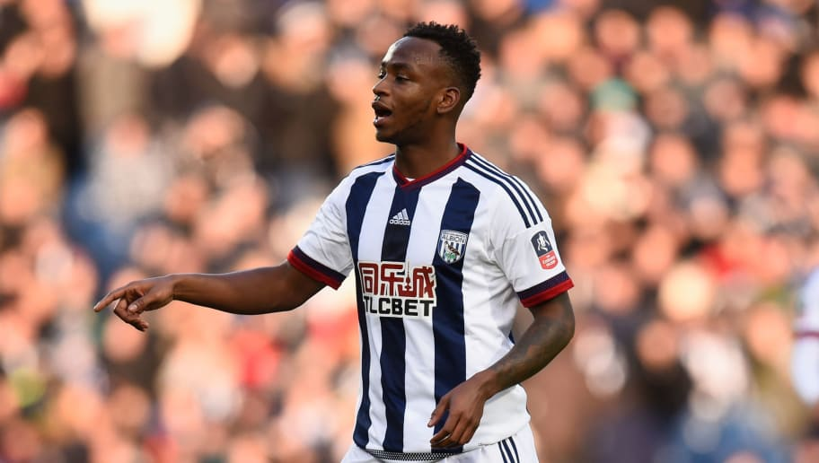 WEST BROMWICH, ENGLAND - JANUARY 30:  Saido Berahino of West Bromwich Albion reacts during The Emirates FA Cup Fourth Round match between West Bromwich Albion and  Peterborough United at The Hawthorns on January 30, 2016 in West Bromwich, England.  (Photo by Stu Forster/Getty Images)
