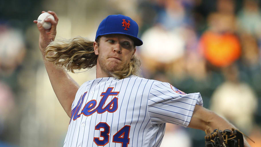 NEW YORK, NY - JUNE 15: Pitcher Noah Syndergaard #34 of the New York Mets delivers a pitch against the Pittsburgh Pirates during the first inning of a game at Citi Field on June 15, 2016 in the Flushing neighborhood of the Queens borough of New York City. (Photo by Rich Schultz/Getty Images)