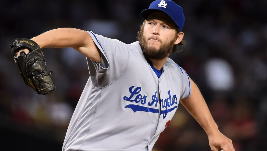 PHOENIX, AZ - JUNE 15:  Clayton Kershaw #22 of the Los Angeles Dodgers delivers a first inning pitch against the Arizona Diamondbacks at Chase Field on June 15, 2016 in Phoenix, Arizona.  (Photo by Norm Hall/Getty Images)